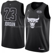 Chicago Bulls Michael Jordan 23# Svart 2018 All Star Game NBA Basketlinne..